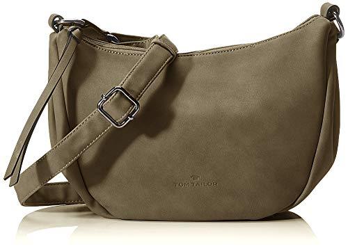 TOM TAILOR Umhängetasche Damen Juliea, Grün (Khaki), 30x19.5x10 cm, TOM TAILOR Handtaschen, Taschen für Damen, klein