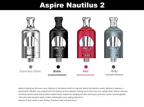 電子タバコaspireNautilus2アスパイアノーチラストゥーアトマイザー(ブラック)