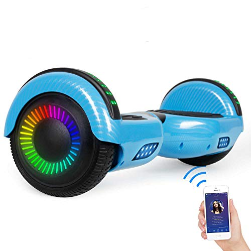 "SISIGAD Hoverboard Self Balancing Scooter 6.5"" Two-Wheel Self Balancing Hoverboard with Bluetooth Speaker for Adult Kids Gift - Fun Edition"