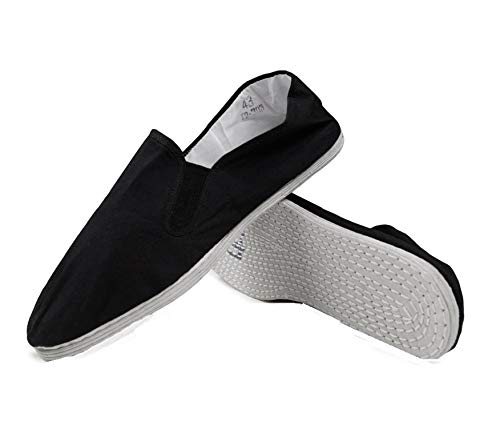 Lees Hi Performance Kung Fu/Tai Chi Shoes - Cotton White Sole (47 (14.5-15))
