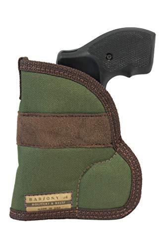 Barsony Woodland Green Pocket Holster for S&W J Frame Snub Nose Left