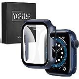 【2021改良モデル】YOFITAR Apple Watch 用 ケース series6/SE/5/4 40mm アップルウォッチ保護カバー ガラスフィルム 一体型 PC素材 全面保護 超薄型 装着簡単 耐衝撃 高透過率 指紋防止 傷防止 (series4/5/SE/6 40mm,ブルー)