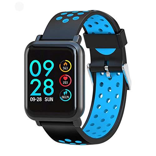Oyznsb horloge smartwatch armband band voor mannen vrouwen vrouwen vrouwen meisjes activiteit sport fitness tracker 2.5D scherm Ip68 waterdicht, blauw