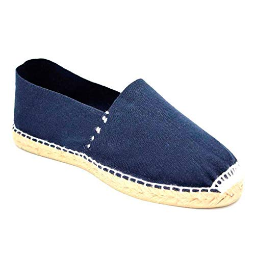 Alpargatas de Esparto Plana Made in Spain en Azul Marino Talla 45