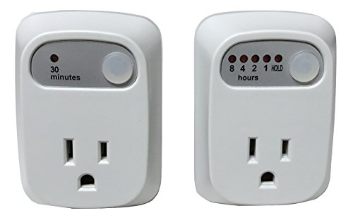 Simple Touch 2-Piece Combo Pack 30 Minute Auto Shut-Off Saftey Timer & Multi Setting Auto Shut-Off Timer