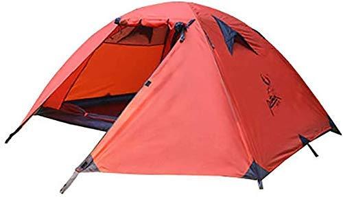 ZYL-YL 1-2 personas tienda de campaña al aire libre refugio solar impermeable tiendas suministros para deportes senderismo viaje Rainfly (color: rojo)