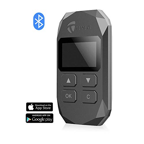 Temexe X Cryptocurrency Hardware Wallet for Bitcoin Ethereum ERC20 Token BTC ETH Bluetooth AES Encryption Cold Wallet Offline Private Key Protector with Recovery Phrase Word Card to Restore Backup
