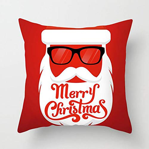 Shan-S 18'x18' Throw Pillow Covers Christmas Decorative Couch Pillow Cases Cotton Linen Pillow Square Pillowcase Throw Cushion Cover for Sofa, Couch, Bed and Car Decor