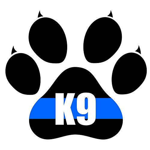 4x4 Inch Reflective Decal K9 Tactical Police Law Enforcement Thin Blue Line United States Sticker