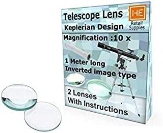 RETAIL SUPPLIES Keplerian Astronomical design, 10x, Inverted image type, with make instructions DIY Telescope lens kit,
