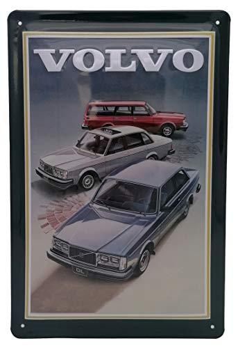 Volvo Retro Werbung - hochwertig geprägtes Blechschild, 30 x 20 cm Wanddekoration