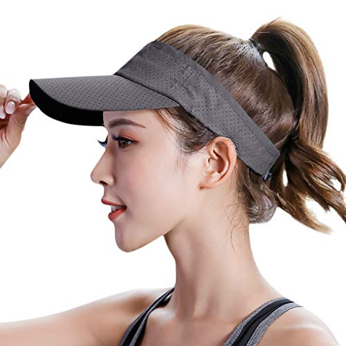 Cappello sportivo unisex con visiera parasole, protezione UV, traspirante, visiera da golf, sport -  -  taglia unica