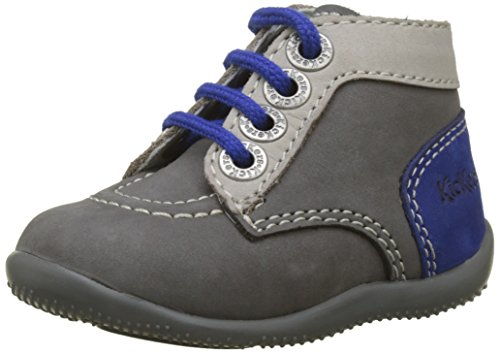 Kickers Unisex Baby Bonbon Stiefel, Grau (gris Gris Clair Bleu 122), 18 EU