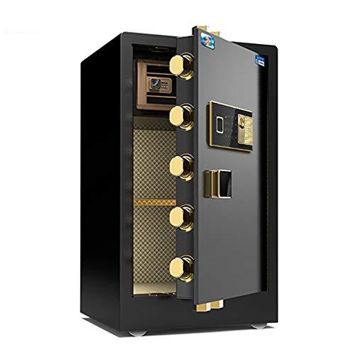 jklj Pequeña Caja Fuerte Robusta Digital Electronic Safe Security Box for Home Office, Gabinete Caja Fuerte con el Teclado para el Dinero de la joyería. (Color : Black, Size : 48x42x80cm)