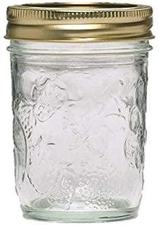 Golden Harvest Mason Jelly Jars 8 oz. Regular Mouth, Vintage Fruit Design (Pack Of 24)