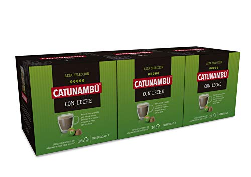 Catunambú, Cápsulas de Café (Leche) - Pack 3 - 837 gr
