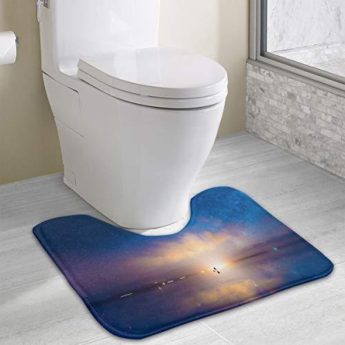 N/B vlooi van de nacht (Uyuni zout meer) op maat U zacht schuim bad mat, wc-mat, badkamer mat, wasbaar 19 in*16 in