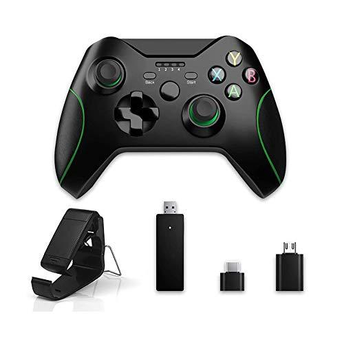 Cdy Bluetooth-Game-Controller, 2.4G Wireless-Gaming-Controller PC Gaming Joystick Mit Dual Shock Vibration Und Justierbare Halterung Halter Für PS3 / PC Usw.