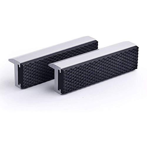 UOEIDOSB Visor de 4 Pulgadas Jaws Universal Soft Vice Jaws Pads Cubiertas, Protector Multiuso para Cualquier vicio de Metal, 2 Piezas, Plata