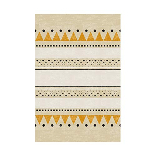Brilliant firm Teppiche Teppich Sofa Couchtisch Decke Home rechteckige Kind Krabbeln Matte Nachttisch weiche Matte (Color : Yellow, Size : 140 * 200cm)