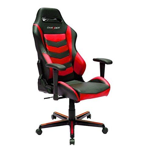 DXRacer Gaming Stuhl, OH/DH166/NR, D-Serie, schwarz-rot, das Original von DX Racer