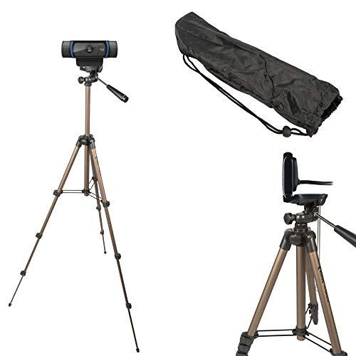 TronicXL 1,05m Tripod 19 W Stativ für Webcam zb Logitech C920 Brio 4K C925e C922x C922 C930e C930 C615 Microsoft Kamera Webcamstativ Webcamhalterung Webcamständer Webcamhalter Halterung etc