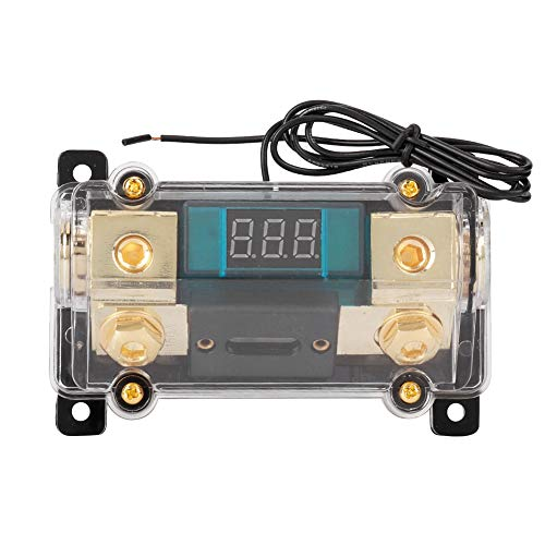 Aramox Car Fuses Holder, Car Audio Power Fuses Holder Stereo Distribution Block Box Digital Display (150A)