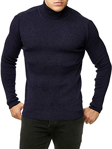 Red Bridge Herren Rollkragen Pullover Sweatshirt Strickpullover Navy M