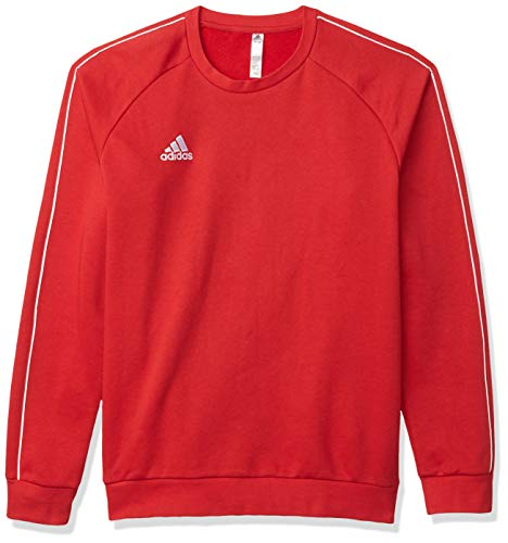 adidas Men's Core 18 Soccer Sweatshirt, Power Red/White, Large