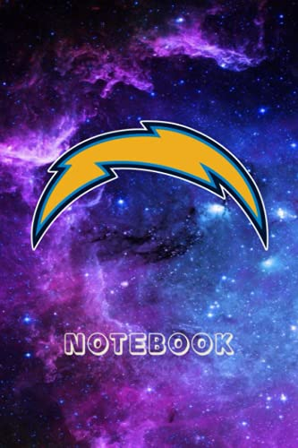 Football Notebook : Los Angeles Chargers Daily Planner Notebook For Sport Fan Thankgiving , Christmas Gift Ideas Type #14