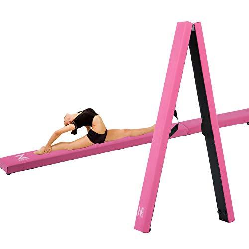 hiram opvouwbare evenwichtsbalk, 244 cm, voor training, balans, gymnastiek, balans, gymnastiekbalk, gymnastiekvloer voor kinderen, fitness, training, turnoefeningen