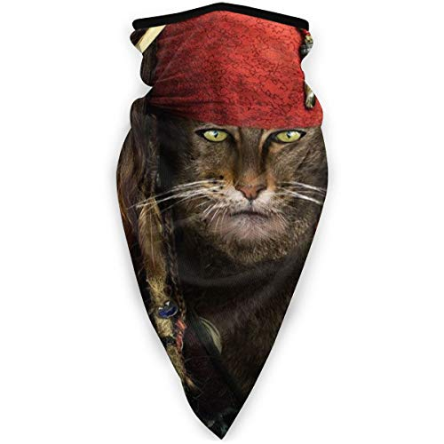 Cat is Pirate Windproof Sports Face Cover Mouth Cover Magic Scarf, Bandana, Balaclava for Women&Men,Kids