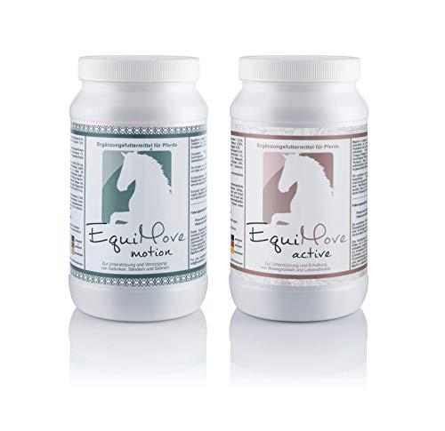 EquiMove BEWEGUNGS-Bundle Motion & Active: je eine Dose (1,5 kg) Ergänzungfuttermittel zur effektiven Unterstützung bei starken Gelenkproblemen, Bewegungsunlust oder Unrittigkeit