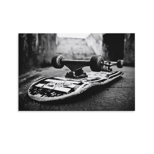 Skateboard Poster A Giant Skateboard HD Print on Canvas Painting Wall Art for Living Room Decor Boy Gift 16x24inch(40x60cm)