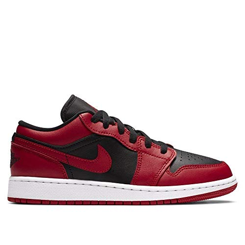 Nike Jungen AIR Jordan 1 Low (GS) Basketballschuh, Gym Red Black White, 39 EU
