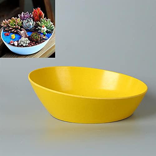 FAFAD - Fioriera in plastica per piante, vaso per fiori, vaso per fiori e piante ovali, in fibra di materiale per giardino, balcone