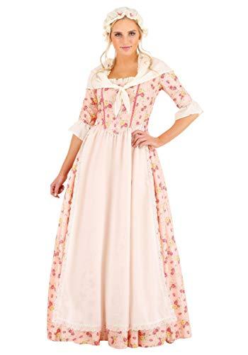 Disfraz colonial para mujer - rosa - Large