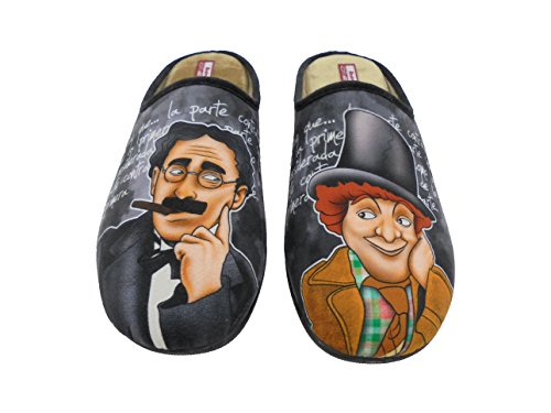 Zapatillas de Estar por Casa para Hombre Hermanos Marx Mod.529. Calzado Made in Spain, Garantia de Calidad. (43)