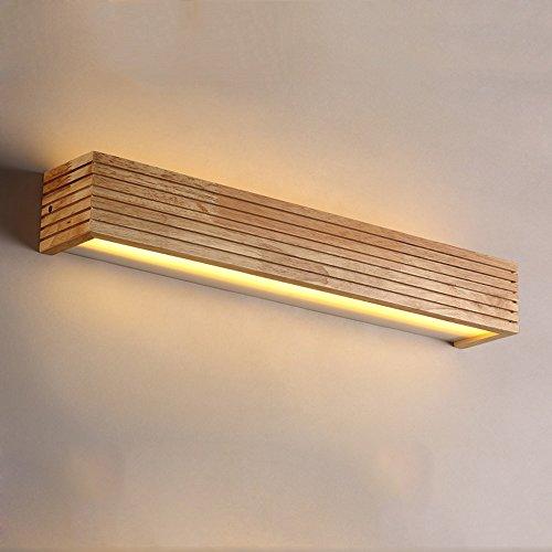 LXSEHN Nordische Kreativität Massivholz Wohnzimmer Schlafzimmer Bett Wandlampe Bad Spiegel Vorne Lampe Kommode Make-up Lichter 8W / LED/Warmes Licht (größe : 45 cm)