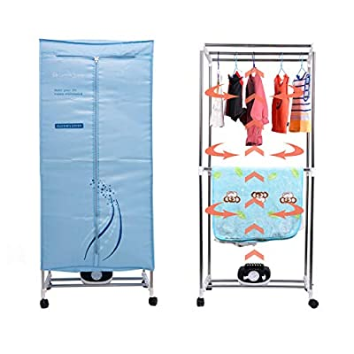 SLEE Home Electric Clothes Dryer 1000W Double layer Stainless Steel Warm Air