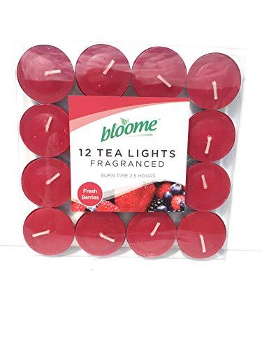Fragranced Tea Light Candles Assorted 12pk (Fresh Berries)