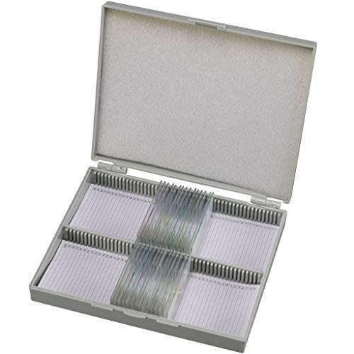 Bresser Dauerpräparate für Mikroskop (50 Stück), vorgefertigte und konservierte Präparate zu verschiedenen Themen mit Etikett versehen