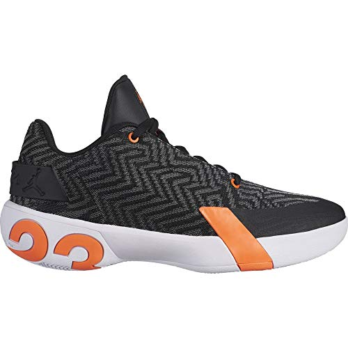 Jordan Ultra Fly 3 Low Zapatos de Baloncesto, Hombre, Negro (Black/Black/White/Hyper Crimson 008), 48.5 EU