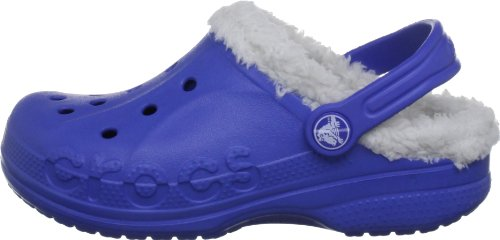 Crocs Baya Lined Kids, Zuecos Unisex Niños, Azul (Sea Blue/Oatmeal 439), 22/24 EU