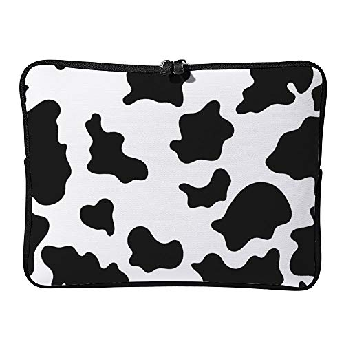 DKISEE Cow Print Laptop Sleeve for MacBook Air/MacBook Pro Compatible with 13 Inch Notebook Two way Zippers Laptop Carry Bag Case Cover, DM20200409FOR009