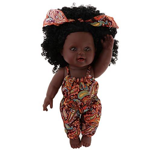 D DOLITY Poupée Afro-Américaine Réalistes 12 Pouces Bébé Reborn Poupées pour Enfants Enfants Cadeau de Noël - D
