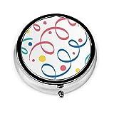 Custom Silver Round Pill Box/Case Pocket(2,1...