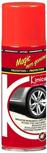 Kimicar 0490200 Magic Rinnovatore Gomma, Spray, 200 ml, Nero, Set di 1