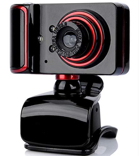 KCatsy Webcam, 8 MP HD Webkamera für Skype, mit integriertem Mikrofon, USB, Plug and Play, Videokamera, Breitbild-Video schwarz Schwarz  480P