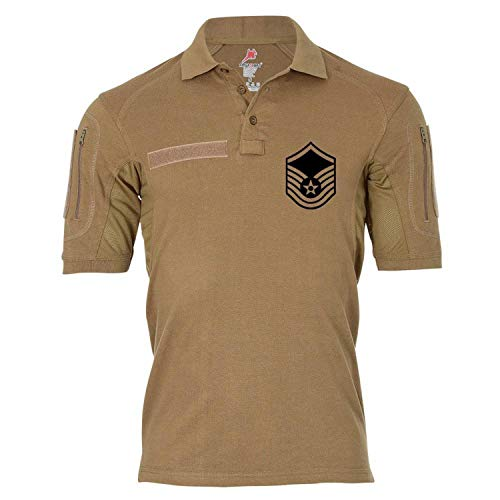 Copytec Tactical Poloshirt Alfa - Master Sergeant US Marine Corps Dienstgrad United States America Dienst Polo #19034, Farbe:Khaki, Größe:XXL